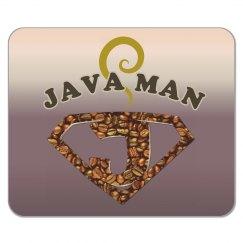 Java Man Coffee Humor Mouse Pad