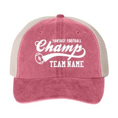 Custom Team Fantasy Football Hat