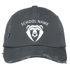 Custom School Mascot Distressed Hat