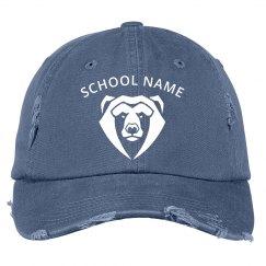 Custom School Mascot Distressed Hat