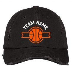 Custom Team Basketball Ribbon Hat