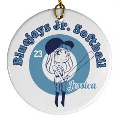 Jr. Softball Ornament