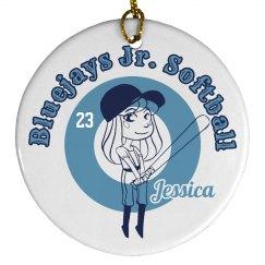 Jr. Softball Ornament