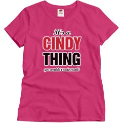 It's a Cindy Thing