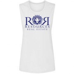 White Ladies Scoopneck Tank