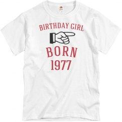 Birthday girl born 1977