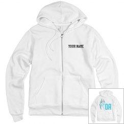 MDA White Zip Hoodie
