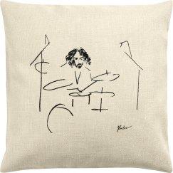 Adam Abrashoff Throw Pillow Cover