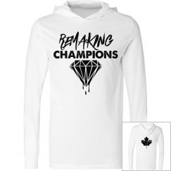 White and Black Remaking Champs Hooded Tee