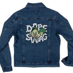 Ladies Dope Swag Ganja Jean Denim Jacket