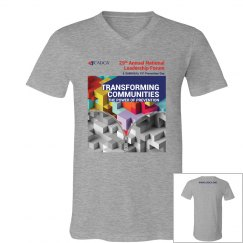 2019 National Leadership Forum Men's V-Neck- Grey