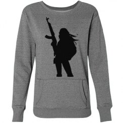 Grey Sweater Girl with a Gun