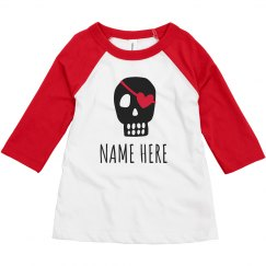 Toddler Boy Valentine Custom Pirate
