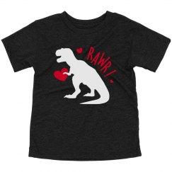 Toddler Boy Valentine Dinosaur Rawr