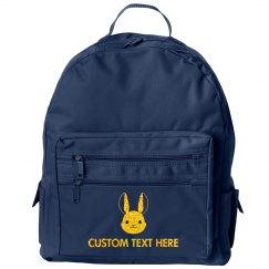Custom Glitter Bunny Backpack