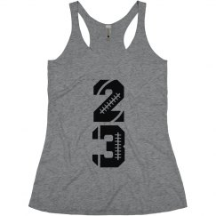 Trendy Football Girlfriend Tanks With Custom Numbers