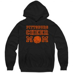 cheer mom hoodie black