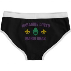 Harambe Loved Mardi Gras White