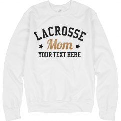 Lacrosse Mom Metallic Sweatshirt