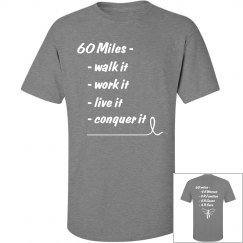 60 Miles 4 R Cure-Tall Men's T