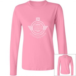 Womens Long Sleeved Cancer Warrior