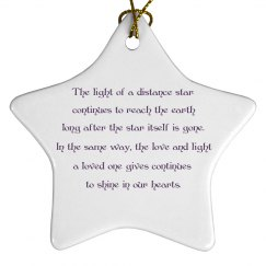 Memory Star Ornament