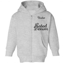 Under Rated denim hoodie