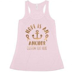 Custom Gold Hope Breast Cancer