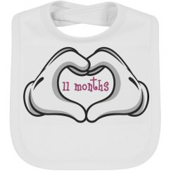 Baby Bib by Month 11 mth