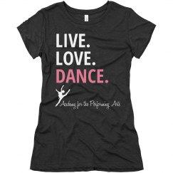 Ladies Live Love Dance T APA