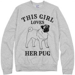 This girl loves her pug