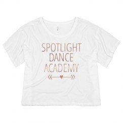 Spotlight Crop Top Metallic-Adult