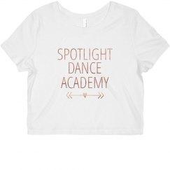 Spotlight Crop Top Metallic-Adult
