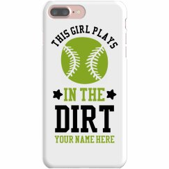 Softball Girls Get Dirty Custom