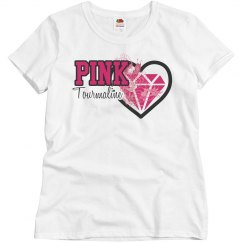 Pink Tourmaline shirt adult size