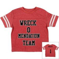 team wreck toddler Jersey shirt
