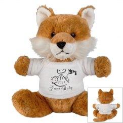 Fox Stuffed Animal-Customize-Birth Announcement-Gift