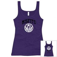 Girls Design 9: Misfits womens purple tank