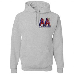 All American Pageant Sweatshirt Grey Pocket Logo