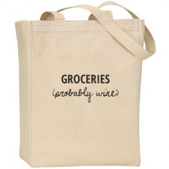 Groceries (probably wine) tote