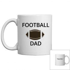 Football dad coffee mug