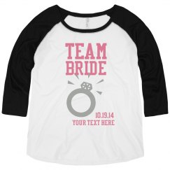 Team Bride Plus Sized Raglan