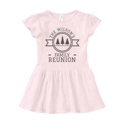 Custom Outdoor Reunion Baby Dress