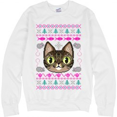 Colorful Cat Ugly Xmas Sweater