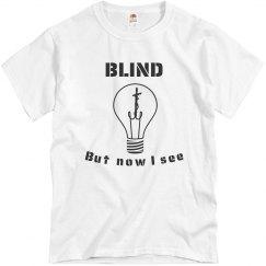 Unisex Blind Tee Lt.Blue
