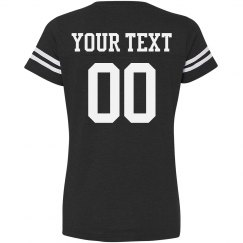 Custom Name Number Football Tee for Women