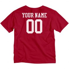 Custom Name Number Kids Tee