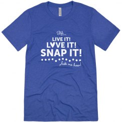 Live It! Love It! Snap It! Vintage Blue Non-fitted
