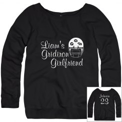 Cute Football Girlfriend Sweater With Custom Text