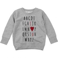 Cute Alphabet Valentine's Toddler